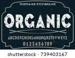 vintage font alphabet...   Shutterstock .eps vector #739403167