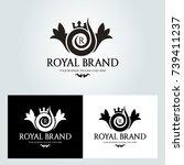 royal brand logo design... | Shutterstock .eps vector #739411237