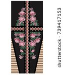 vector dress design with...   Shutterstock .eps vector #739417153