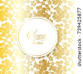 wedding invitation  save the...   Shutterstock .eps vector #739425877