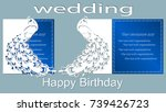 happy birthday. wedding... | Shutterstock .eps vector #739426723