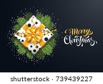 christmas festive luxury design ... | Shutterstock .eps vector #739439227