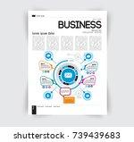business magazine layout | Shutterstock .eps vector #739439683