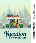 vacation in the mountains.... | Shutterstock .eps vector #739451863