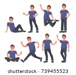 guy in casual clothes in... | Shutterstock .eps vector #739455523