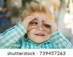 glasses  explorer child played...   Shutterstock . vector #739457263