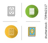 quran book icon. flat design ... | Shutterstock .eps vector #739462117