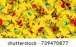 wide vintage seamless... | Shutterstock .eps vector #739470877
