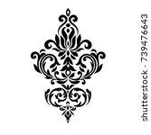 premium vintage baroque frame... | Shutterstock .eps vector #739476643