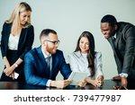 shot of business professionals...   Shutterstock . vector #739477987