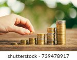 save money with stack money... | Shutterstock . vector #739478917