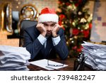 businessman in the office on... | Shutterstock . vector #739482247