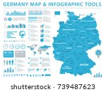 germany map   detailed info... | Shutterstock .eps vector #739487623