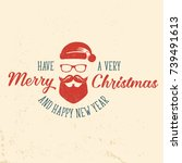have a very merry christmas and ... | Shutterstock .eps vector #739491613