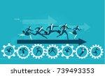 business men showing direction...   Shutterstock .eps vector #739493353