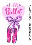 i love ballet. girlish poster...   Shutterstock .eps vector #739493947