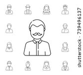 man with mustache avatar. set... | Shutterstock .eps vector #739496137