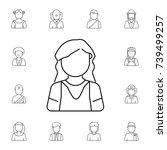garden woman avatar. set of... | Shutterstock .eps vector #739499257