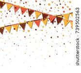 bunting fair flags. awesome... | Shutterstock .eps vector #739502563