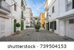 typical street in old town of... | Shutterstock . vector #739504153