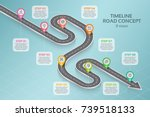 isometric navigation map... | Shutterstock .eps vector #739518133