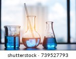 science laboratory beaker ... | Shutterstock . vector #739527793