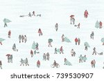 hand drawn illustration of tiny ...   Shutterstock .eps vector #739530907