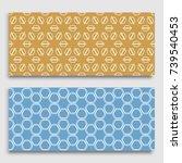 seamless horizontal borders... | Shutterstock .eps vector #739540453
