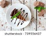 Slice Of Chocolate Cheesecake...