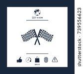 start finish cross flags icon | Shutterstock .eps vector #739556623