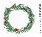 Christmas Composition. Wreath...
