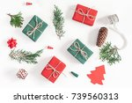 christmas composition.... | Shutterstock . vector #739560313