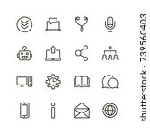 chat icon set. collection of... | Shutterstock .eps vector #739560403