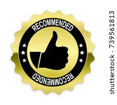gold recommended badge with... | Shutterstock .eps vector #739561813