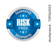 risk free badge with silver and ... | Shutterstock .eps vector #739562023