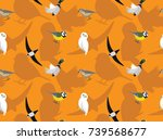 random european birds wallpaper ... | Shutterstock .eps vector #739568677