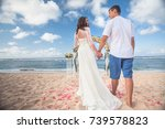 wedding couple just married at... | Shutterstock . vector #739578823