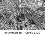 black and white roll steel bars ...   Shutterstock . vector #739581727