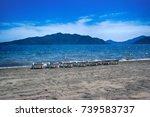 mediterranean beaches are... | Shutterstock . vector #739583737