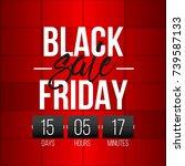 abstract vector black friday...   Shutterstock .eps vector #739587133