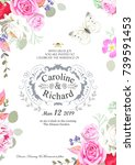 design of wedding invitation | Shutterstock .eps vector #739591453
