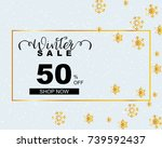 winter sale banner | Shutterstock .eps vector #739592437