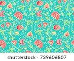 seamless vector floral pattern... | Shutterstock .eps vector #739606807