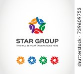 this is a star logo used for... | Shutterstock .eps vector #739609753