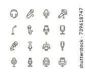 Microphone Icon Set. Collectio...