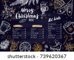 merry christmas festive winter... | Shutterstock .eps vector #739620367