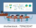 conference room in business... | Shutterstock .eps vector #739623247