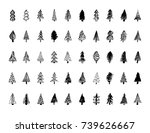 set of hand drawn christmas... | Shutterstock .eps vector #739626667