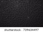 spider web  halloween pattern | Shutterstock .eps vector #739634497