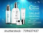 luxury cosmetic bottle package... | Shutterstock .eps vector #739637437